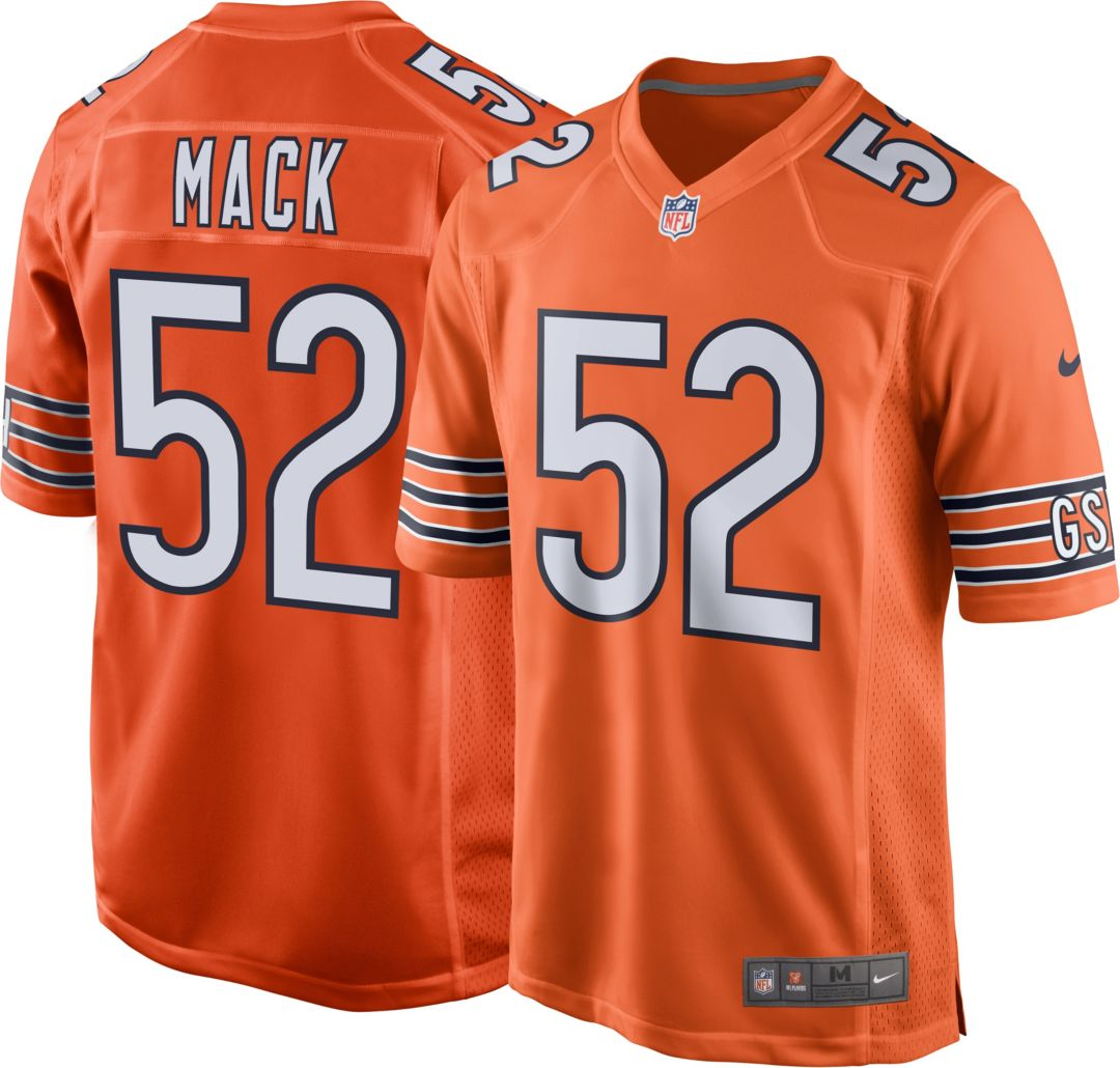 best website 26675 53b3f Nike Men's Alternate Game Jersey Chicago Bears Khalil Mack #52