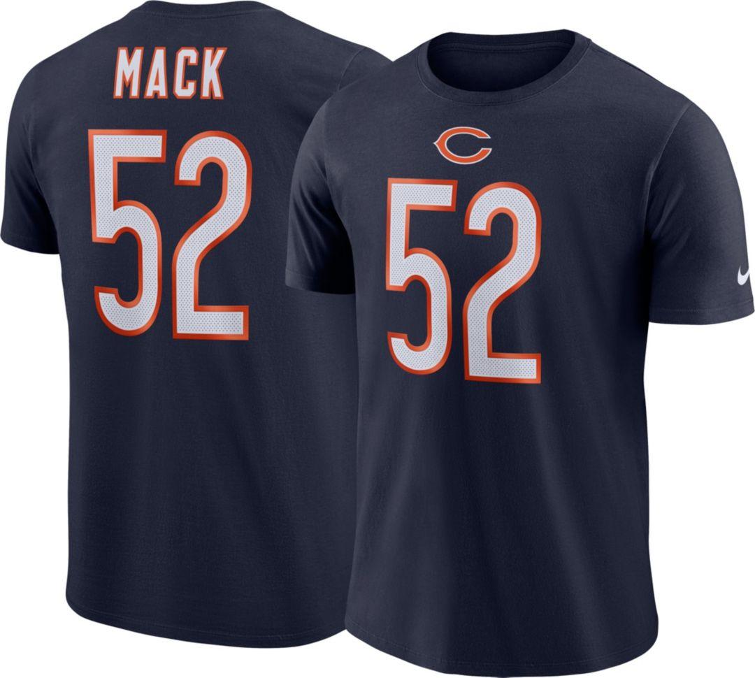 de2ce15d671 Nike Men's Chicago Bears Khalil Mack #52 Pride Logo Navy T-Shirt ...