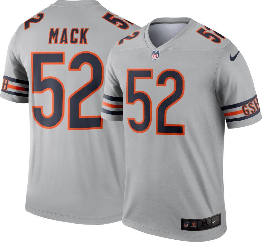 premium selection bd54c 35e3f Nike Men's Alternate Legend Jersey Chicago Bears Khalil Mack #52