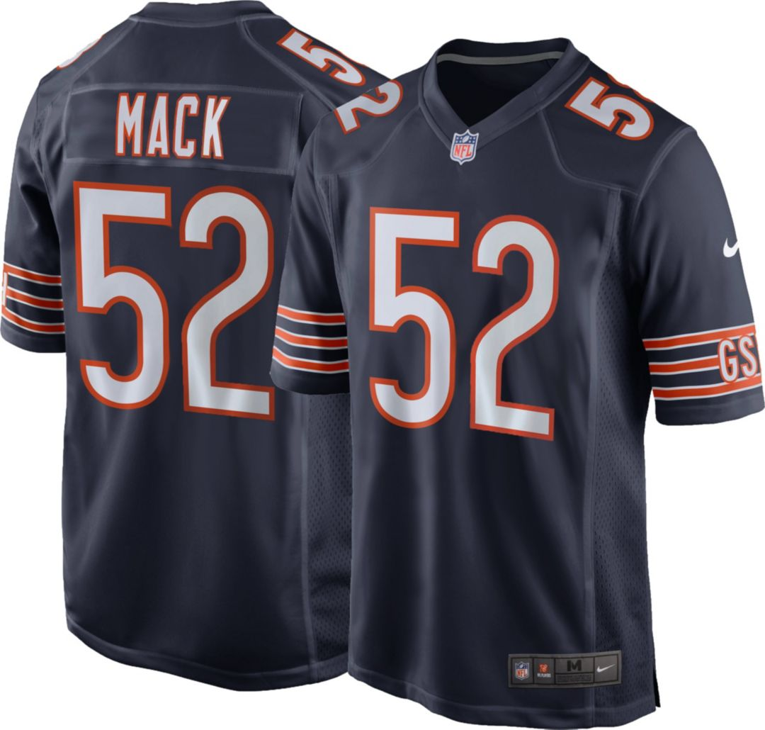 buy popular 38c84 473f0 Nike Men's Home Game Jersey Chicago Bears Khalil Mack #52