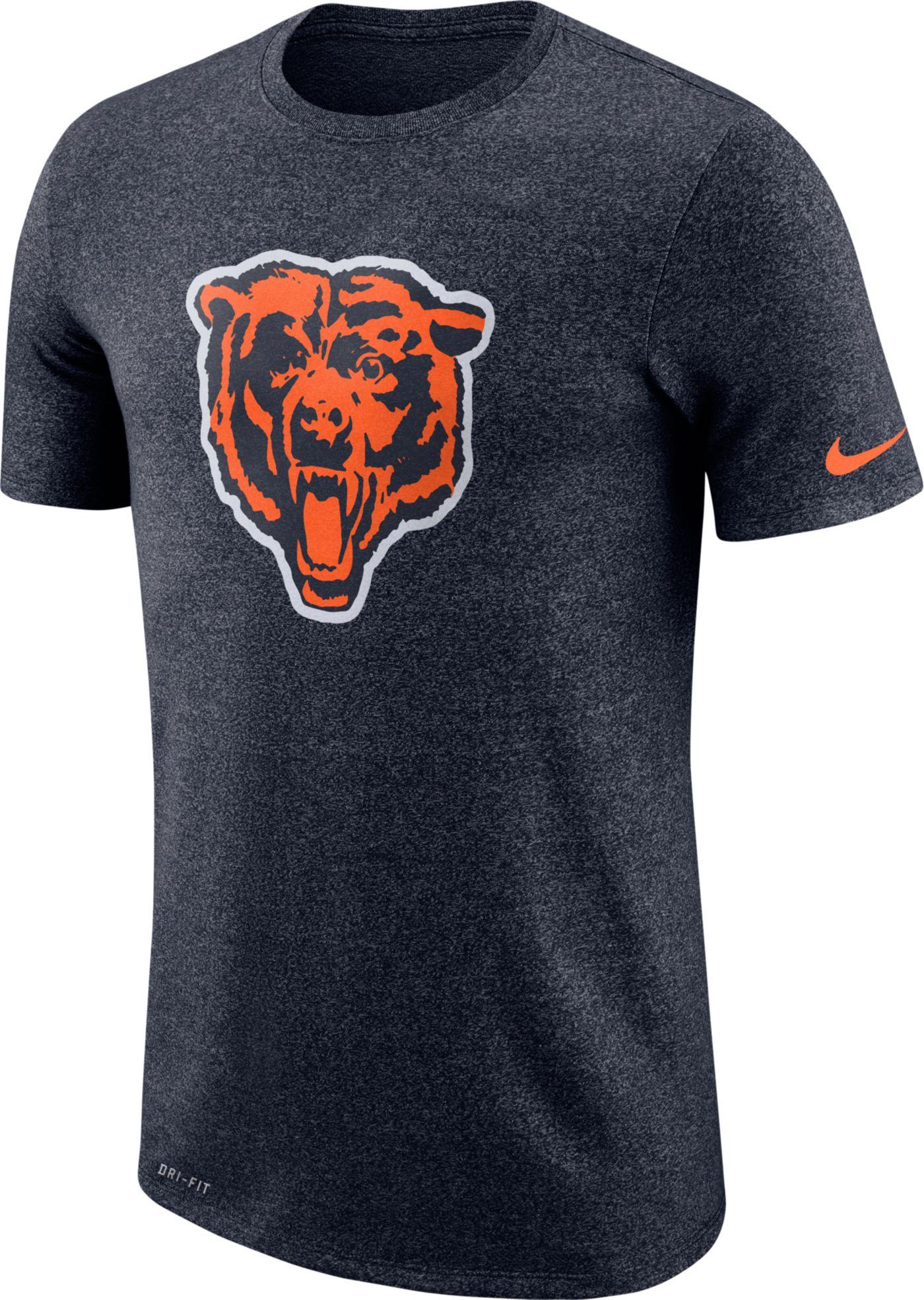 Nike Men's Chicago Bears Tri-Blend Historic Marled Navy T-Shirt