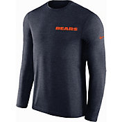 Nike Men's Chicago Bears Sideline Coach Performance Navy Long Sleeve Shirt