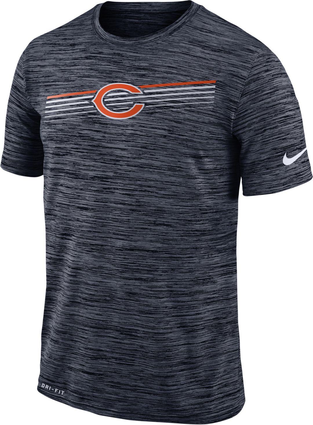 ecde4a8e Nike Men's Chicago Bears Sideline Legend Velocity Navy T-Shirt ...