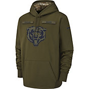 Nike Men's Salute to Service Chicago Bears Therma-FIT Performance Hoodie