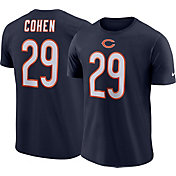 Nike Men's Chicago Bears Tarik Cohen #29 Logo Navy T-Shirt