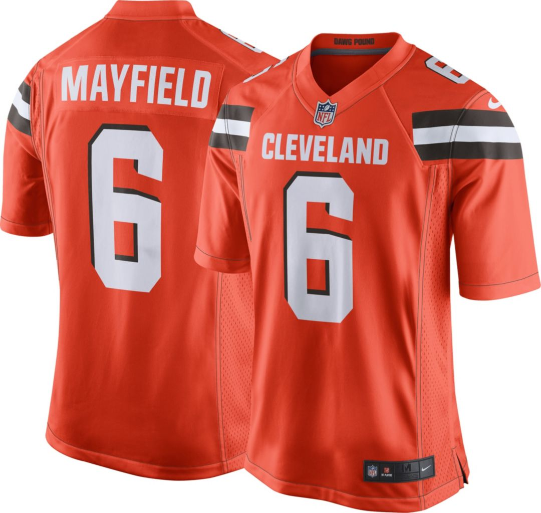check out 15955 7fb16 Nike Men's Alternate Game Jersey Cleveland Browns Baker Mayfield #6