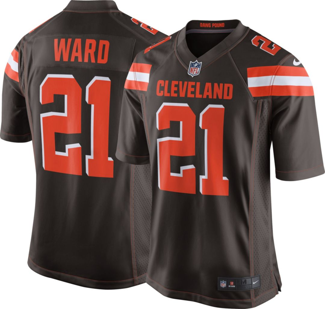 huge discount d8ef0 3c8ca Denzel Ward Nike Men's Cleveland Browns Home Game Jersey