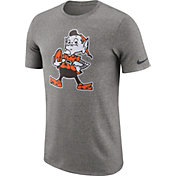 Nike Men's Cleveland Browns Marled Historic Performance Grey T-Shirt