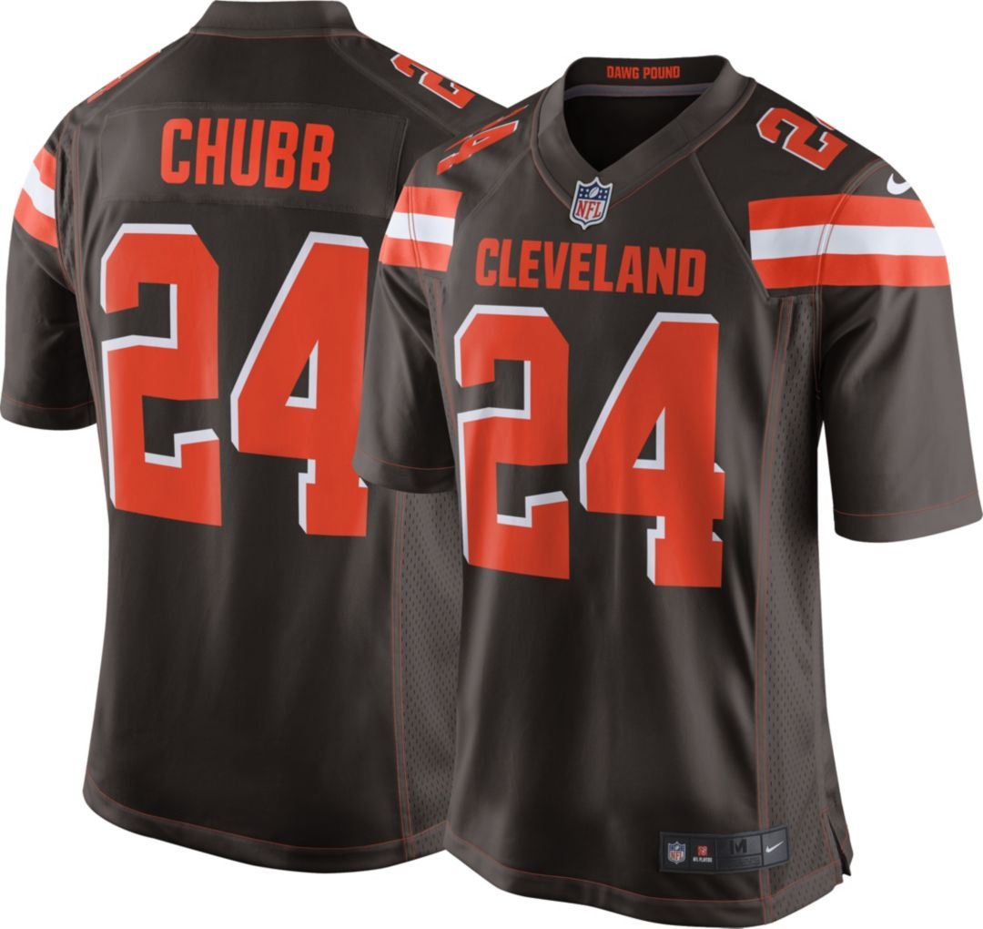 best service 8283d f4c94 Nike Men's Home Game Jersey Cleveland Browns Nick Chubb #24