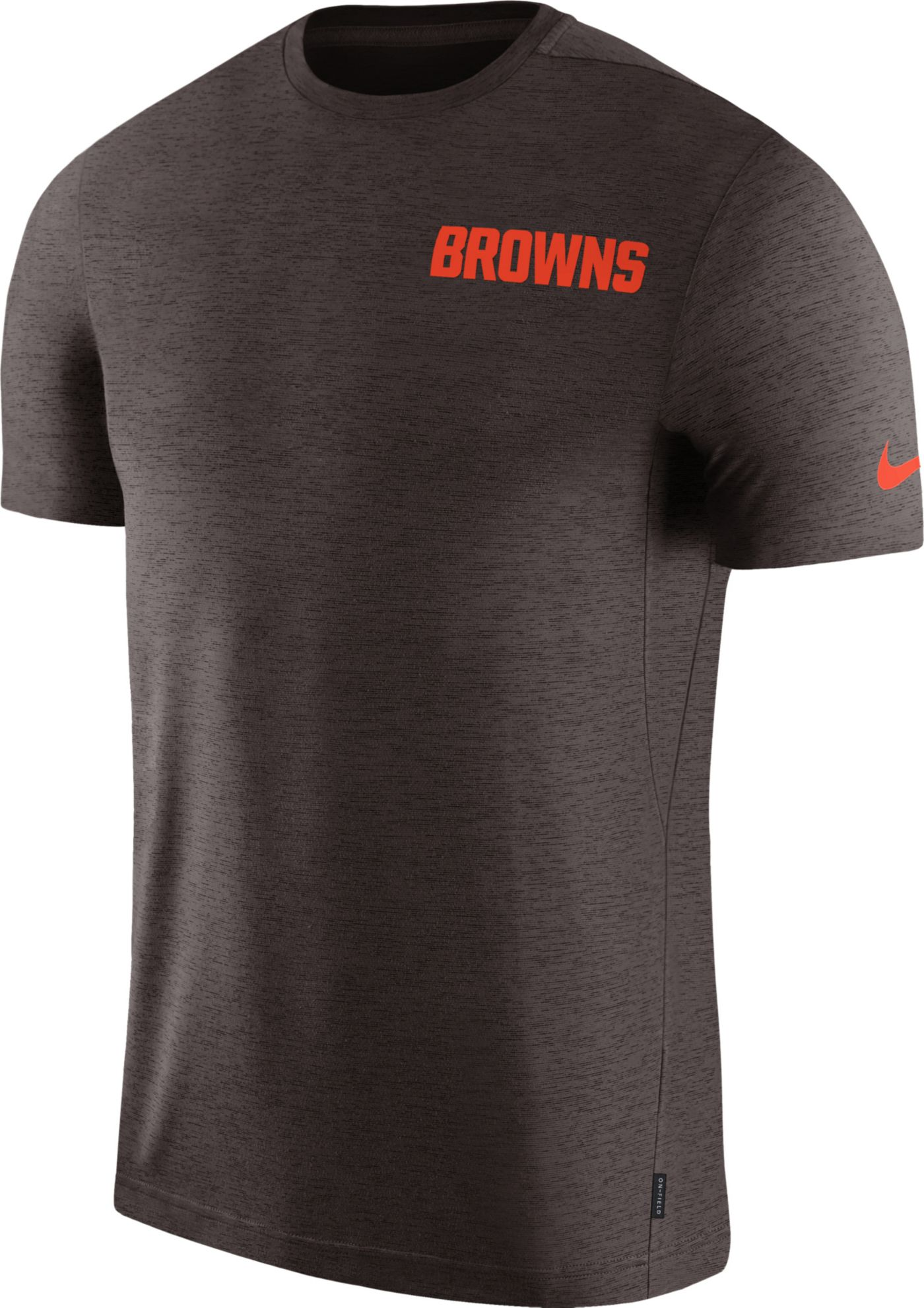 Nike Men's Cleveland Browns Sideline Coach Performance Brown T-Shirt