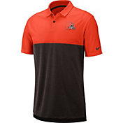 Nike Men's Cleveland Browns Sideline Early Season Orange Polo