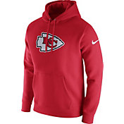 Nike Men's Kansas City Chiefs Logo Club Red Hoodie