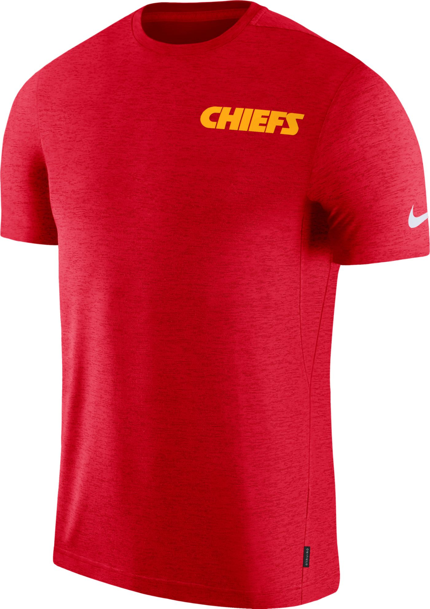 Nike Men's Kansas City Chiefs Sideline Coach Performance Red T-Shirt