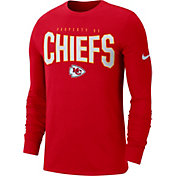 Nike Men's Kansas City Chiefs Sideline Property Of Long Sleeve Red Shirt
