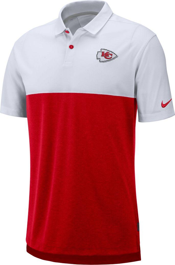 premium selection 67e6d 6b35b Nike Men's Kansas City Chiefs Sideline Early Season White Polo