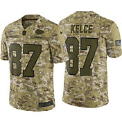 Nike Men's Salute to Service Kansas City Chiefs Travis Kelce #87 Camouflage Limited Jersey
