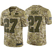 Nike Men's Salute to Service Kansas City Chiefs Kareem Hunt #27 Camouflage Limited Jersey