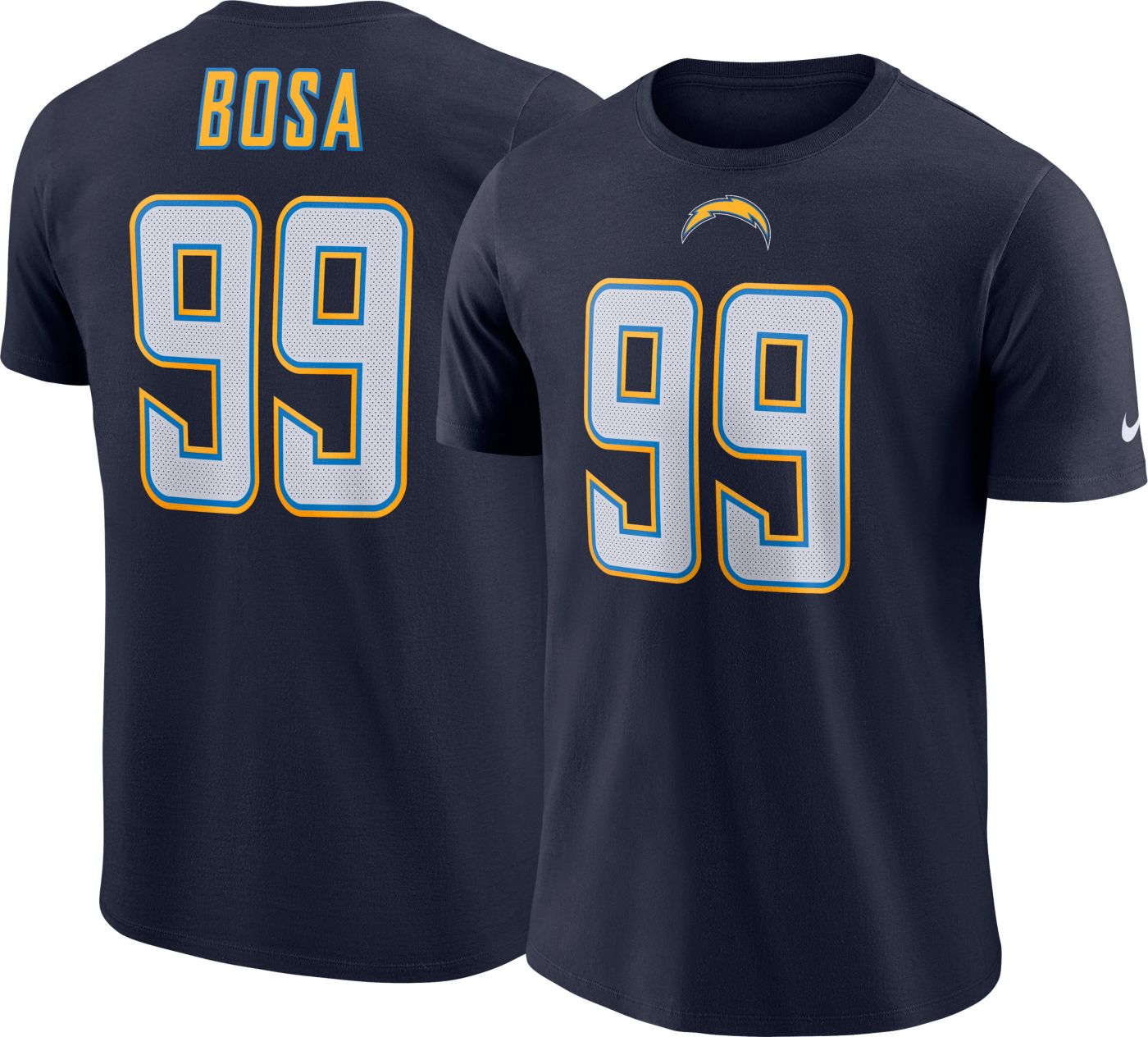Nike Men's Los Angeles Chargers Joey Bosa #99 Pride Logo Navy T-Shirt
