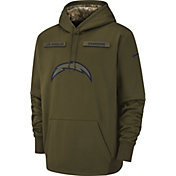 Nike Men's Salute to Service Los Angeles Chargers Therma-FIT Performance Hoodie