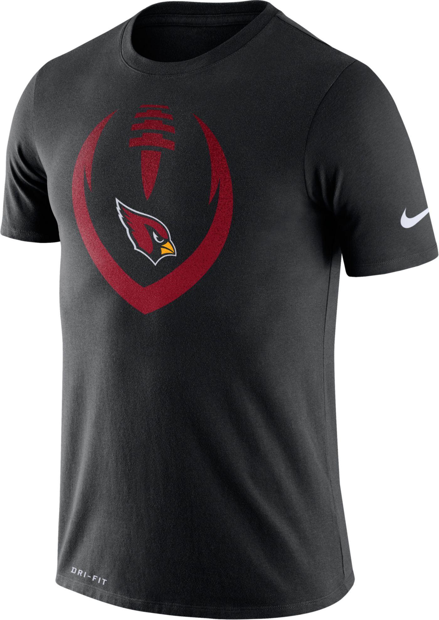 Nike Men's Arizona Cardinals Icon Black Performance T-Shirt