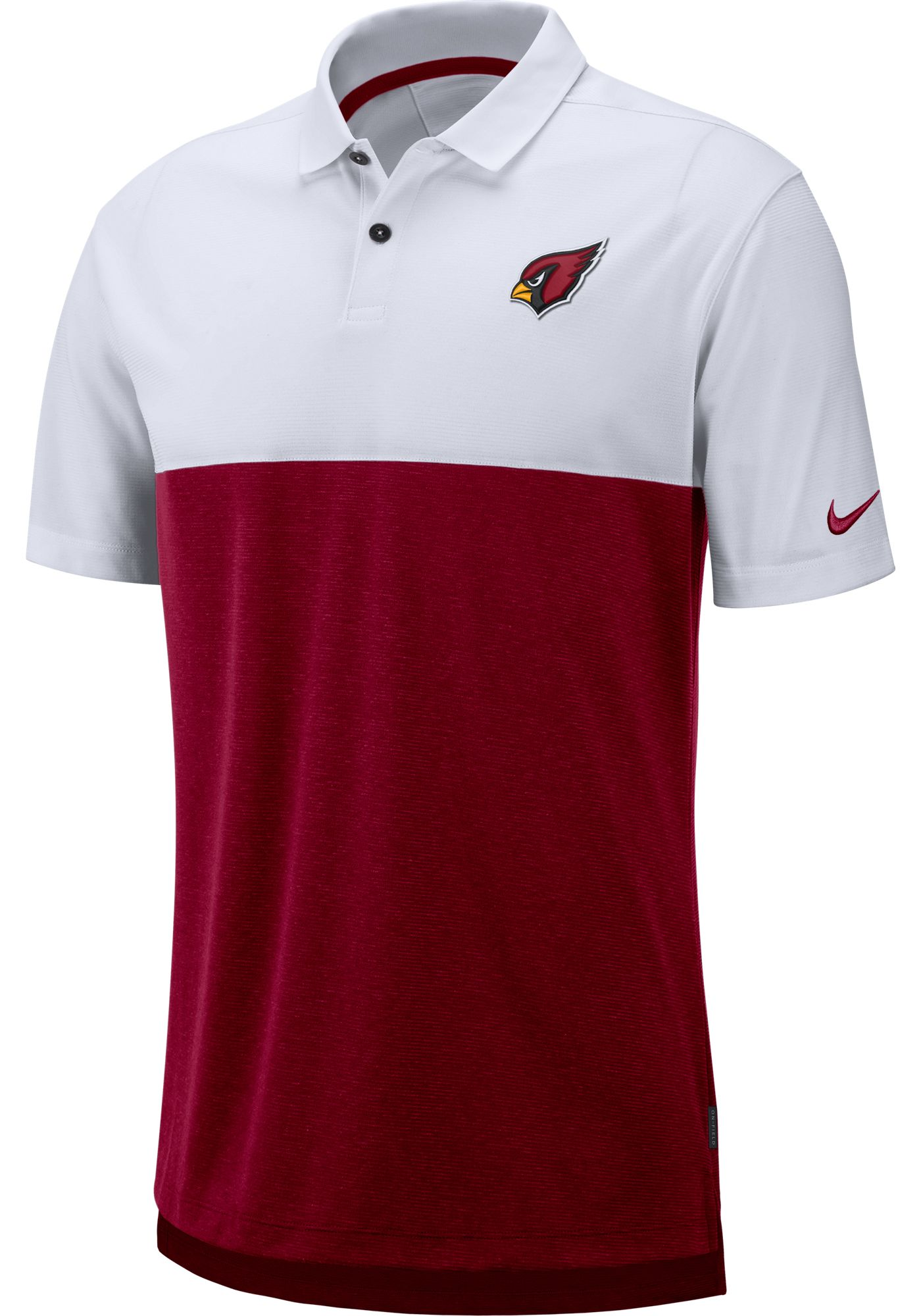 Nike Men's Arizona Cardinals Sideline Early Season White Polo