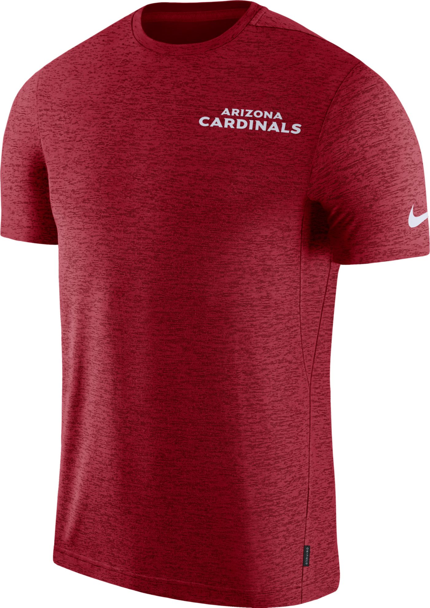 Nike Men's Arizona Cardinals Sideline Coach Performance Red T-Shirt