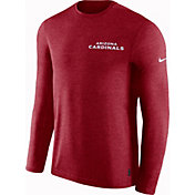 Nike Men's Arizona Cardinals Sideline Coach Performance Red Long Sleeve Shirt