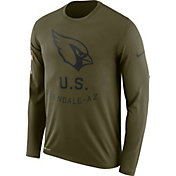 Nike Men's Salute to Service Arizona Cardinals Legend Performance Long Sleeve Shirt