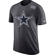 Nike Men's Dallas Cowboys Crucial Catch Logo Anthracite T-Shirt