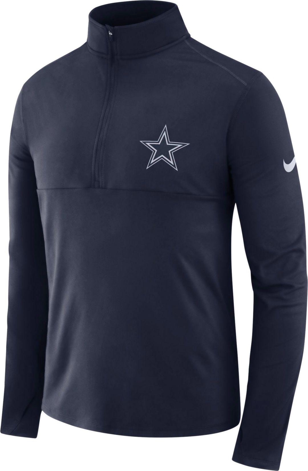 quality design c1b87 7fd65 Nike Men's Dallas Cowboys Core Performance Navy Half-Zip Pullover Top