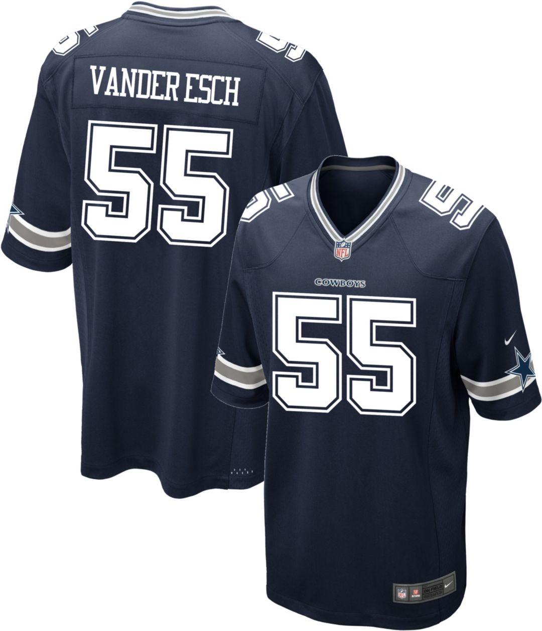 sale retailer ac09a 1f2c5 Leighton Vander Esch #55 Nike Men's Dallas Cowboys Game Jersey