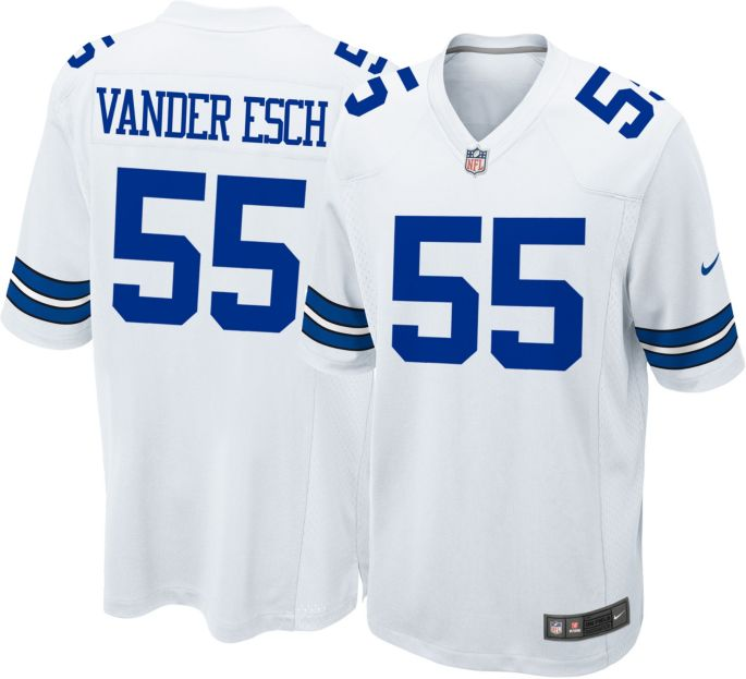 size 40 b562e 702df Nike Men's White Game Jersey Dallas Cowboys Leighton Vander Esch #55