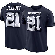 56e90aee Product Image · Nike Men's Dallas Cowboys Ezekiel Elliott #21 Pride Navy T- Shirt