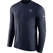 Nike Men's Dallas Cowboys Sideline Coaches Performance Navy Long Sleeve Shirt