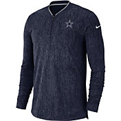 Nike Men's Dallas Cowboys Sideline Coaches Half-Zip Navy Pullover