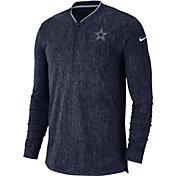 Nike Men's Dallas Cowboys Sideline Coaches Half-Zip Navy Pullover