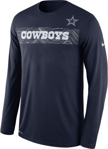 Nike Men s Dallas Cowboys Sideline Seismic Legend Performance Navy Long  Sleeve Shirt. noImageFound 2d30bfb6b