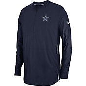Nike Men's Dallas Cowboys Sideline Lockdown Half-Zip Navy Jacket