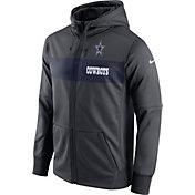 Nike Men's Dallas Cowboys Sideline Therma-FIT Charcoal Full-Zip Hoodie