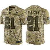 Nike Men's Salute to Service Dallas Cowboys Ezekiel Elliott #21 Limited Jersey