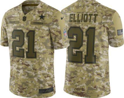 2a593332790c Nike Men s Salute to Service Dallas Cowboys Ezekiel Elliott  21 Limited  Jersey