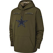 Nike Men's Salute to Service Dallas Cowboys Therma-FIT Olive Performance Hoodie
