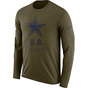 Nike Men's Salute to Service Dallas Cowboys Legend Performance Long Sleeve Shirt