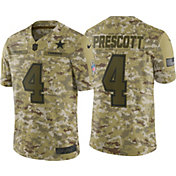 Nike Men's Salute to Service Dallas Cowboys Dak Prescott #4 Camouflage Limited Jersey