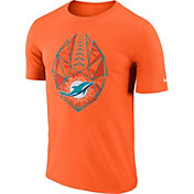 Nike Men's Miami Dolphins Icon Performance Orange T-Shirt