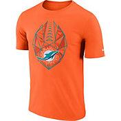 Nike Men's Miami Dolphins Icon Performance Orange T-Shirt