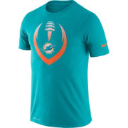 Nike Men's Miami Dolphins Icon Aqua Performance T-Shirt