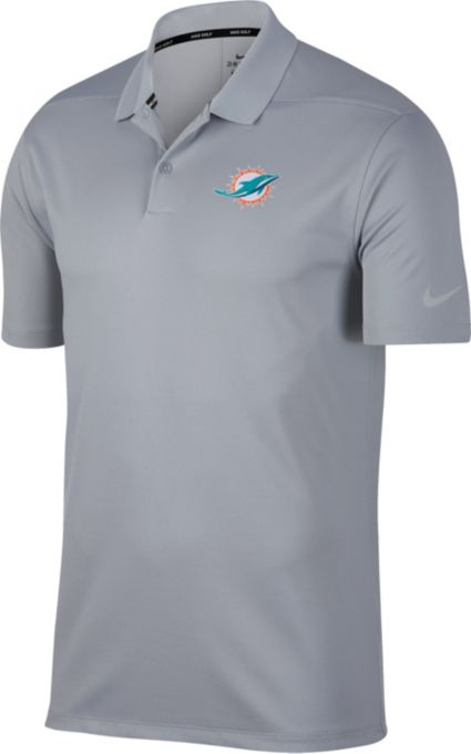 Nike Men's Miami Dolphins Victory Grey Golf Polo