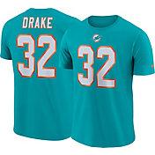 Nike Men's Miami Dolphins Kenyan Drake #32 Pride Logo Aqua T-Shirt