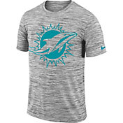 Nike Men's Miami Dolphins Legend Velocity Travel Performance Grey T-Shirt
